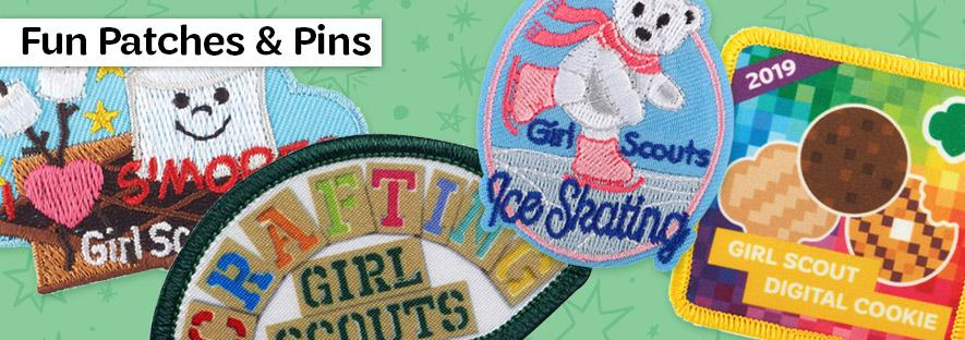 Girl Scout Fun Patches and Pins