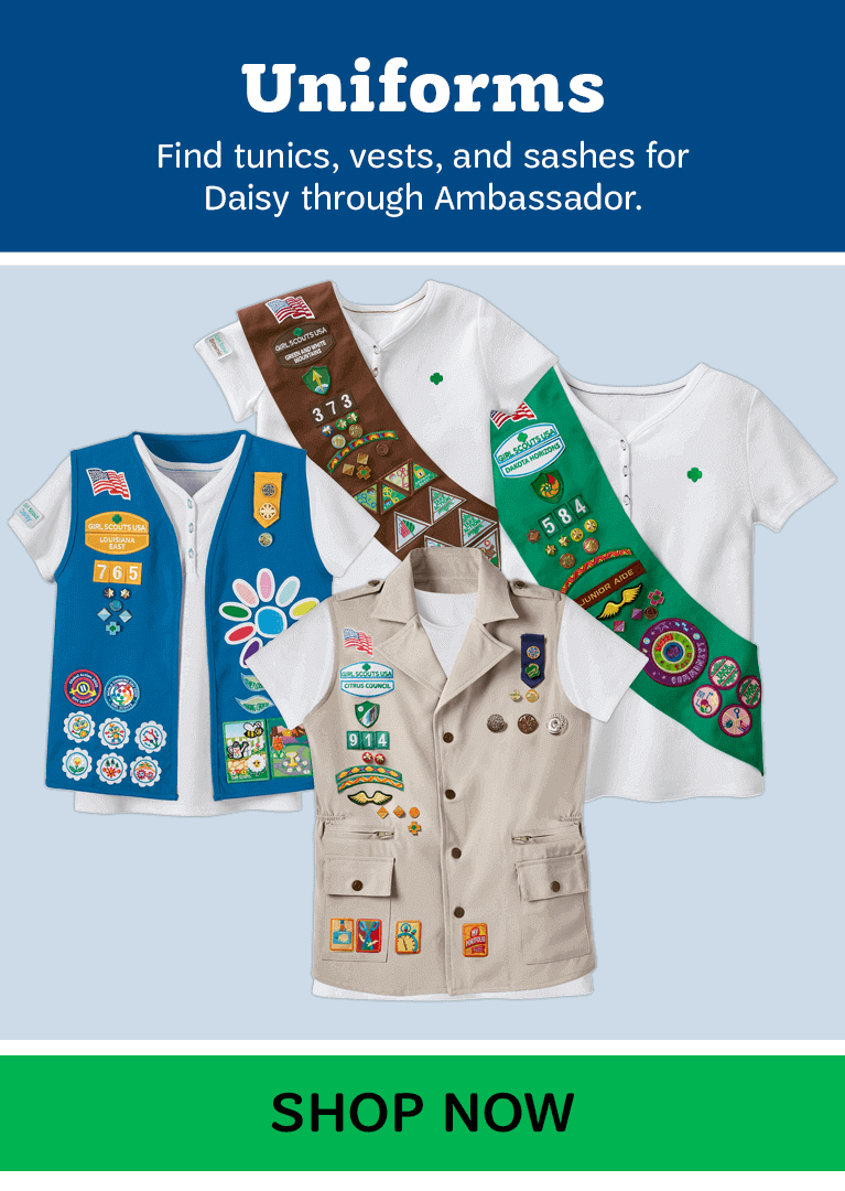 Girl Scout Uniforms for all Grade Levels