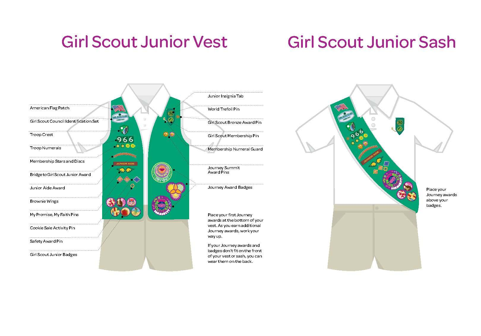 Girl scout junior disc for membership star casual adventure how to wear junior solutioingenieria Gallery