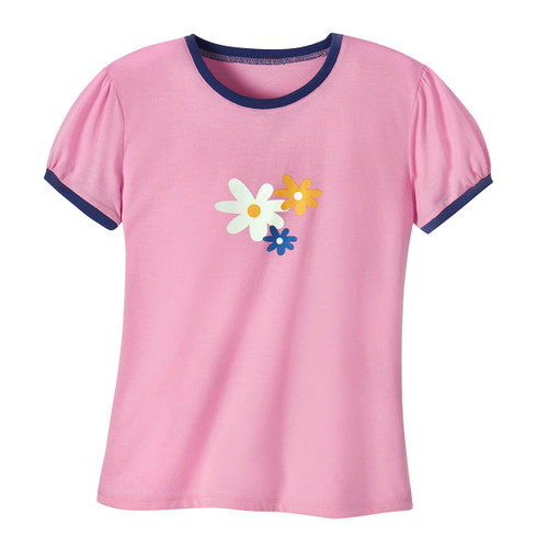 daisy puff sleeve t-shirt