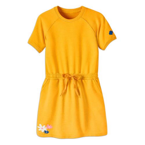daisy drawstring yellow dress