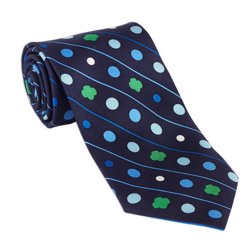 Men's Silk Polka Dot Tie
