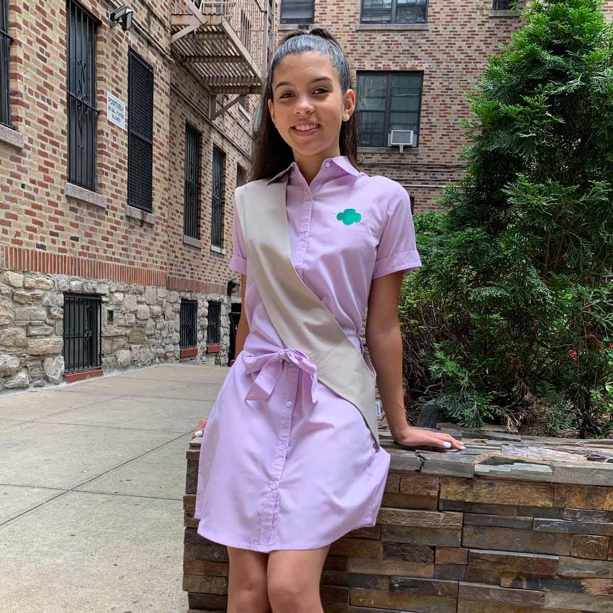 Lilac Chambray Shirt Dress