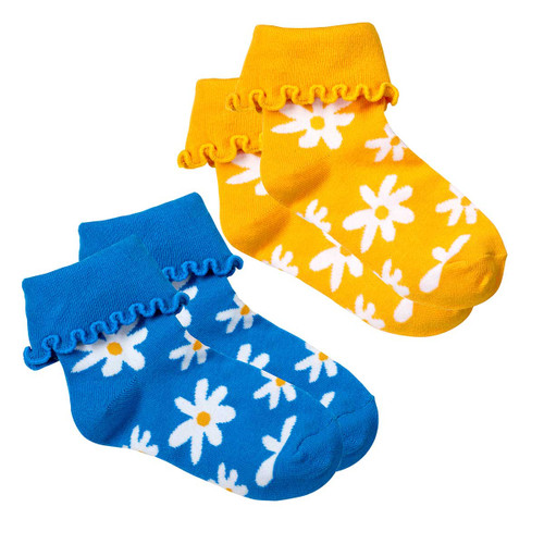daisy cuff sock set of 2