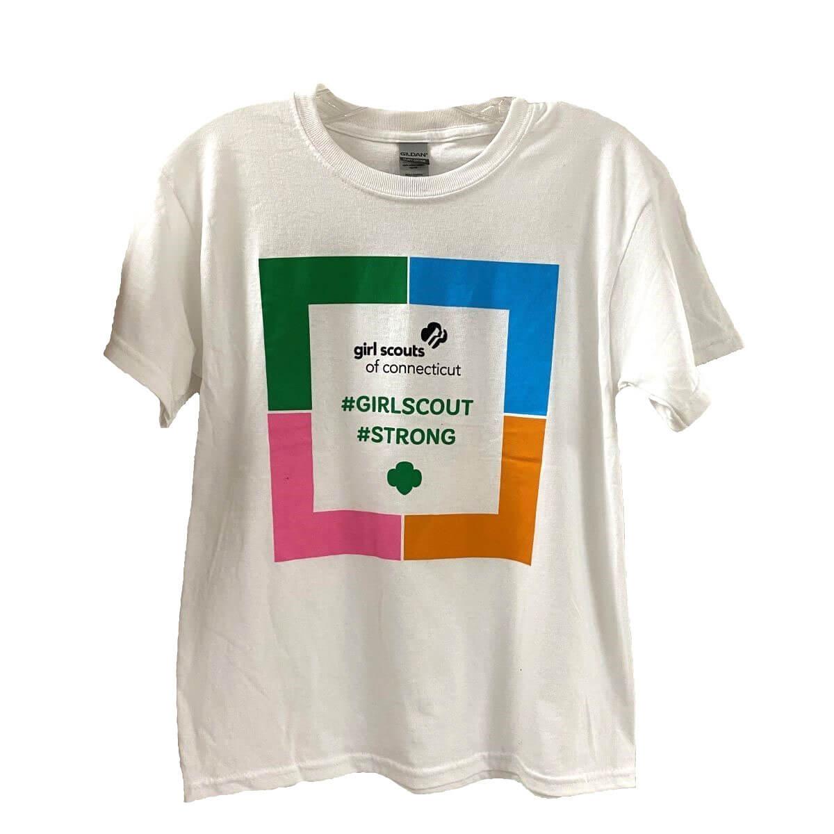 """GSOFCT """"#GIRLSCOUT#STRONG"""" T-shirt"""