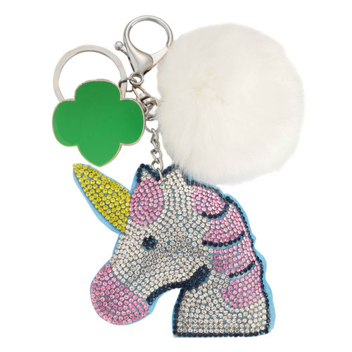 Rhinestone Unicorn Key Ring
