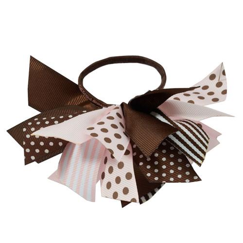 Brownie Ribbon Ponytail Holder