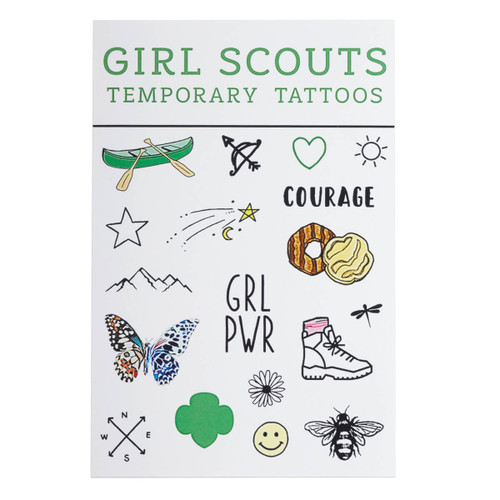 Girl Scout Camp Temporary Tattoos