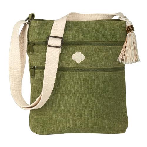 crossbody jute bag