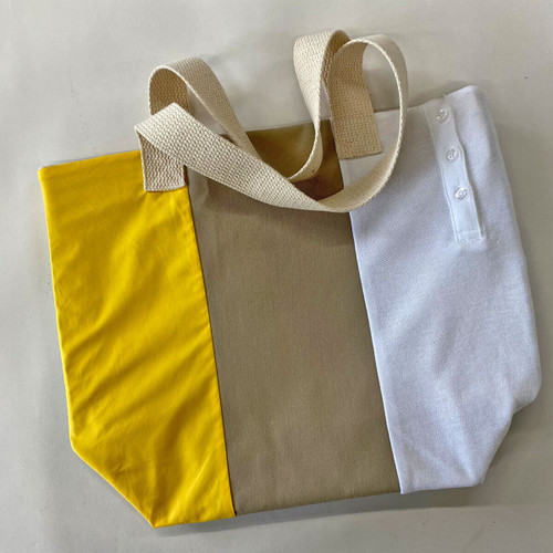 girl scout upcycled tote bag