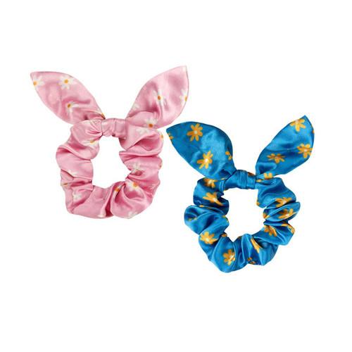 2 pack daisy scrunchie set