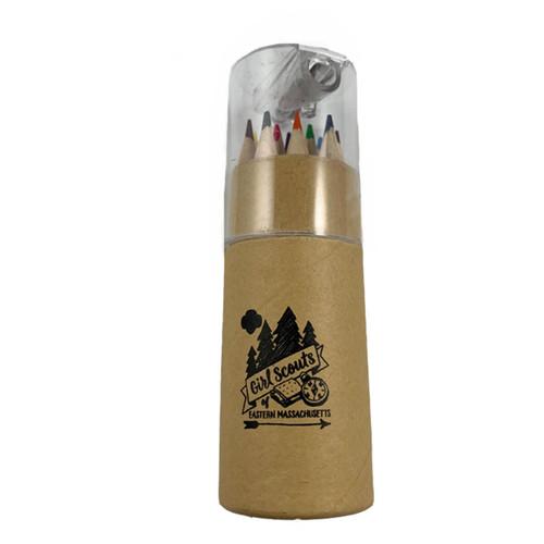 GSEMA Color Pencil Tube with Sharpe