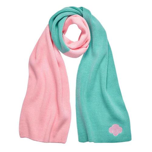 trefoil two tone scarf