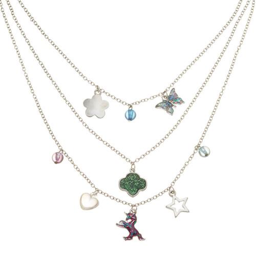 Triple Tier Charm Necklace