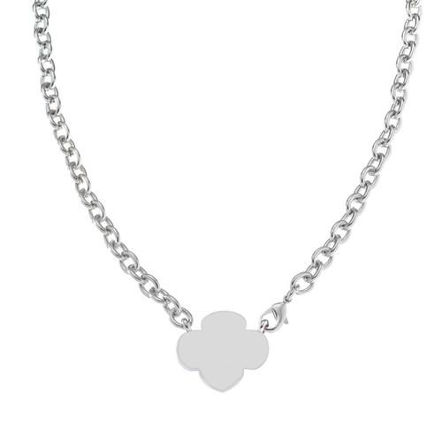 trefoil link necklace