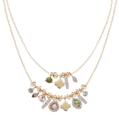 Double Layer Charm Necklace Set