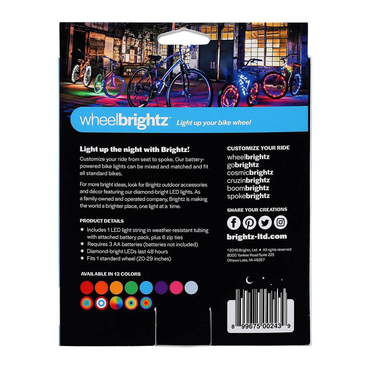 Details on bike wheel light package