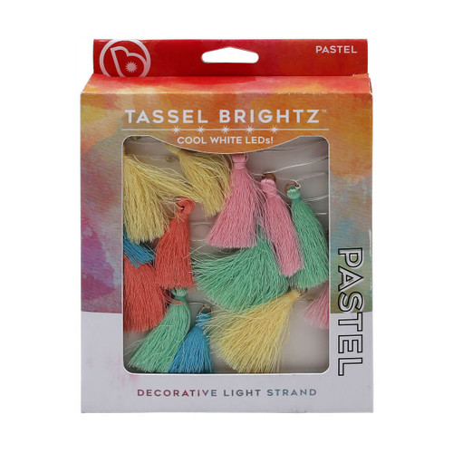 LED tassel string lights