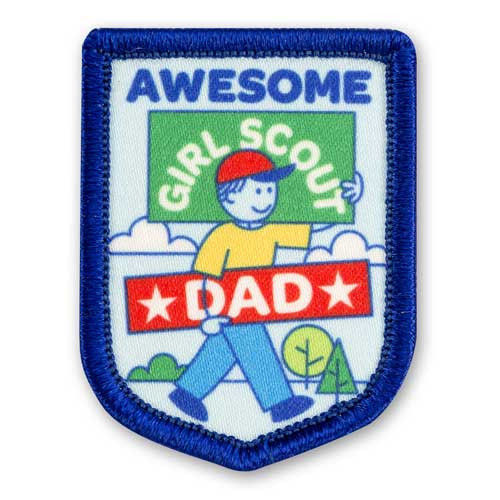 Awesome Dad Sew-On Patch