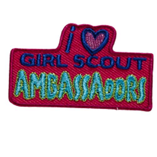 I Love GS Ambassadors Sew On Fun Pa