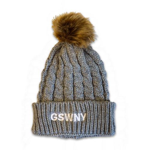 Western New York Knit Hat with Pom