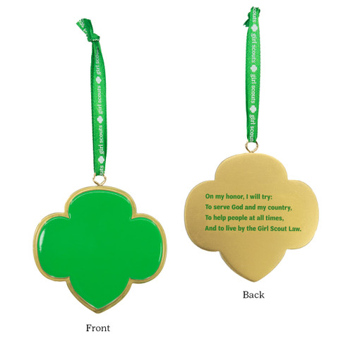 green and gold trefoil ornament