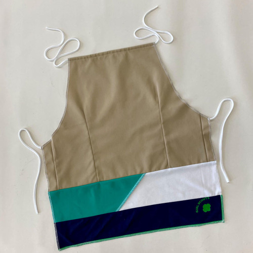 girl scout upcycled apron