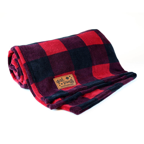 GSEP Plush Throw Blanket with Leath