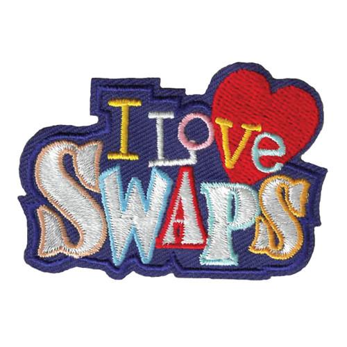 GSWPA I Love SWAPS Iron-On Fun Patc
