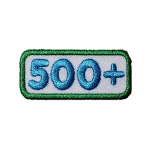 GSNCA 500+ Cookie Number Bar Patch