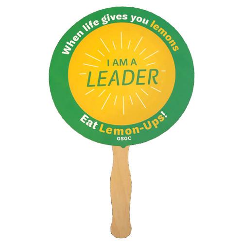 GSGC Hand Held Lemon Up Sign