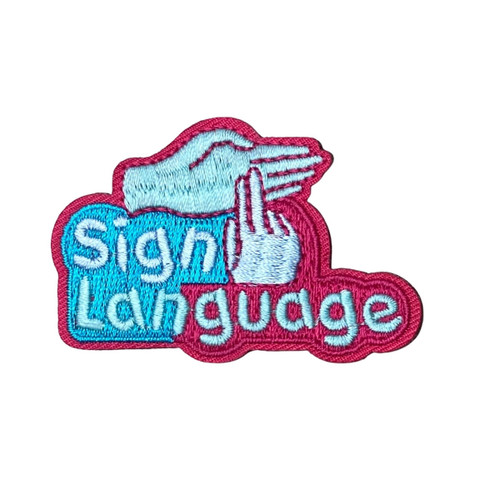 GSWCF Sign Language Fun Patch