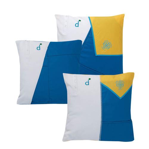 daisy upcycled pillow