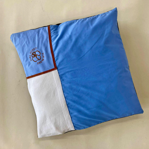 brownie upcycled pillow