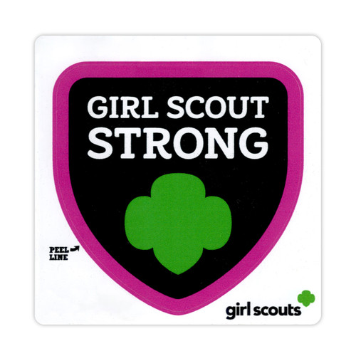 Girl Scout Strong bottle decal