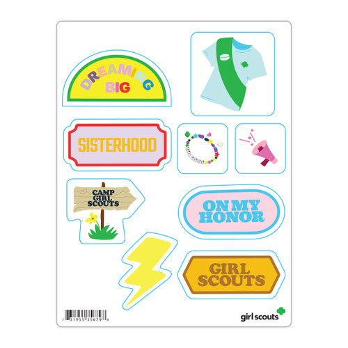 Girl Scout Camp Water Bottle Decal