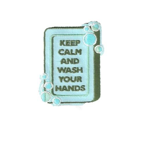 GSHNC Keep Calm Wash Hands Fun Patc
