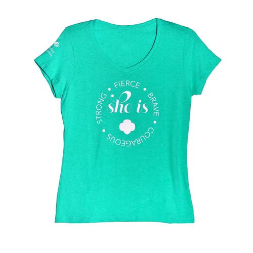 GSNCCP She Is V Neck Shirt