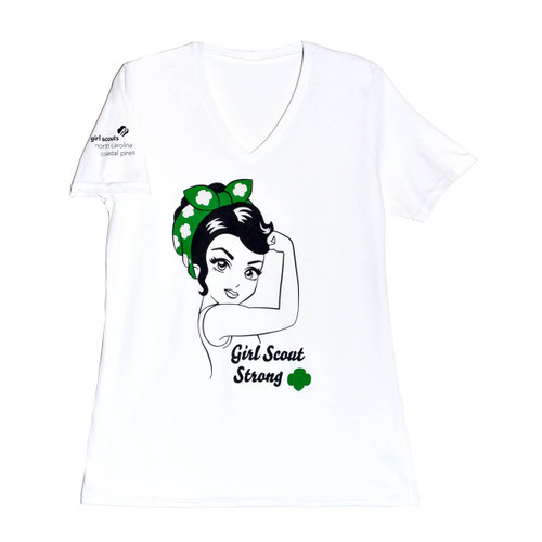 GSNCCP Girl Scout Strong V Neck T-S