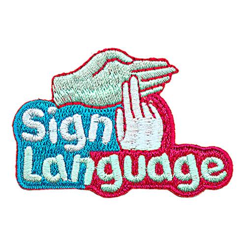 GSNCCP Sign Language Fun Patch