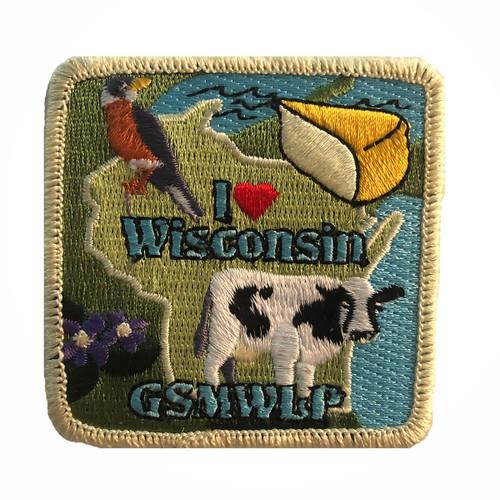 GSMWLP I Love Wisconsin Patch