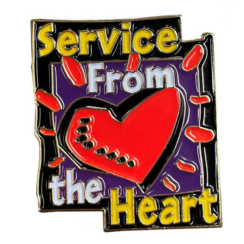 GSRV Service from the heart pin