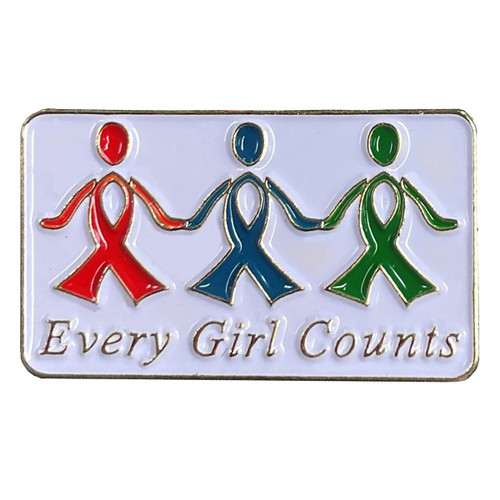 GSRV Every girl counts pin