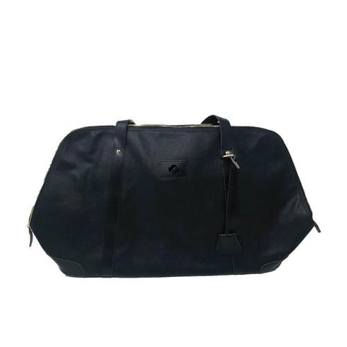 Textured Leatherette Weekender Bag