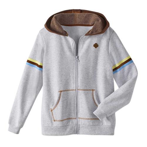 brownie zip up hoodie front view
