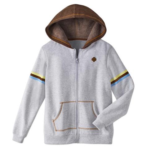 brownie zip hoodie contrast hood