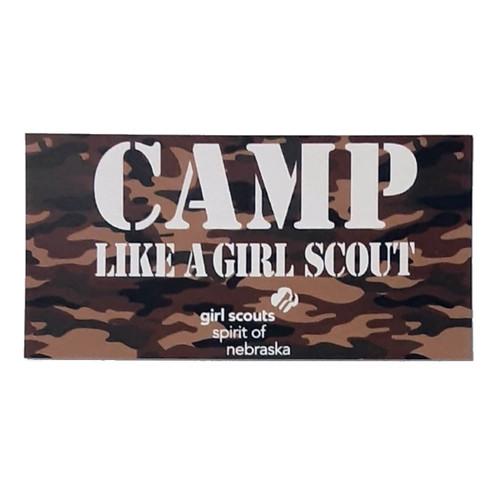 GSSN Camp Like a Girl Decal