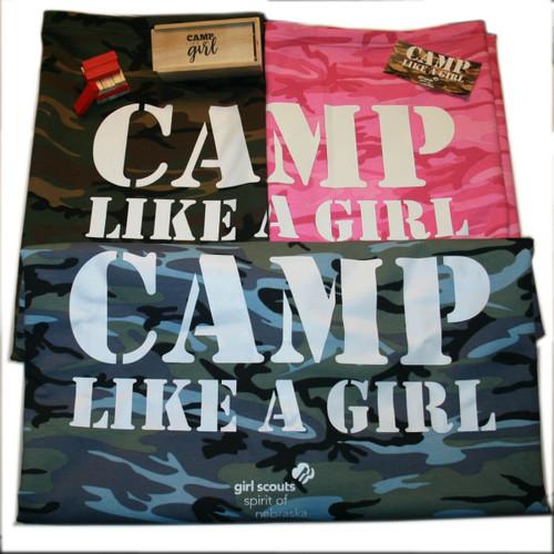 GSSN Camp Like A Girl Camo Blanket