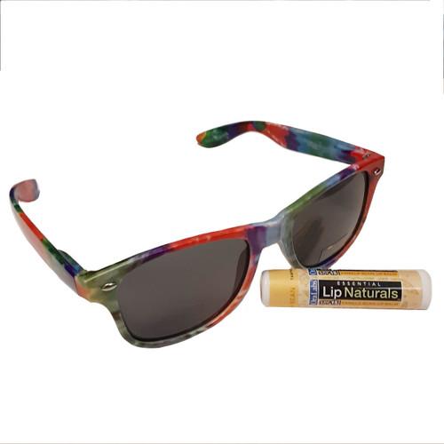 GSSN Tie Dye Sunglasses and Lip Bal