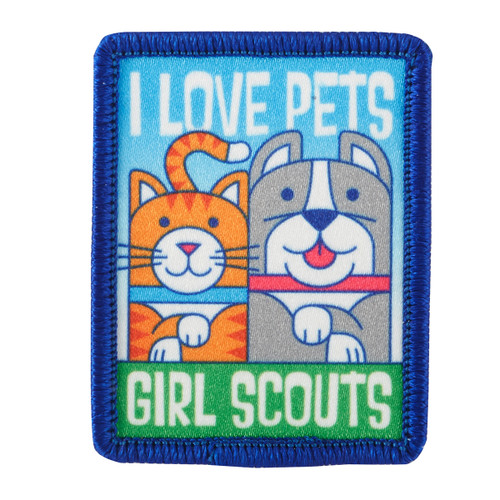 I Love Pets Sew-On Patch